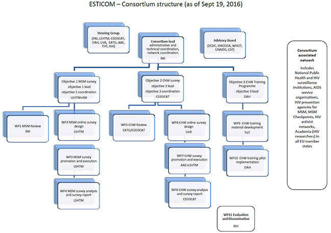 Consortium structure. Source: ESTICOM